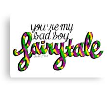 my bad boy fairytale Canvas Print