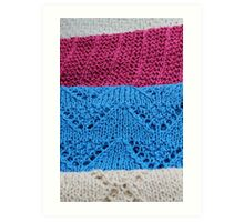 knitted as background Art Print