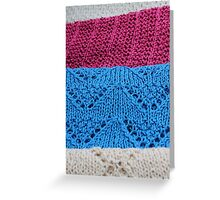 knitted as background Greeting Card
