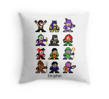 8-bit Gotham Throw Pillow