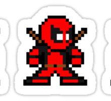 8-bit Deadpool Through the Ages Sticker