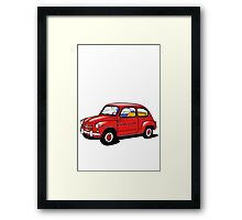 fiat 600 red Framed Print