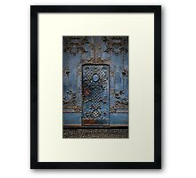 The blue gate Framed Print