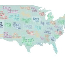 USA state slogans by surgedesigns