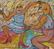 Odette Orang-utan Dancing With Partner by Dianne Connolly