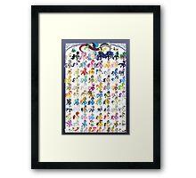 100 PONIES MEGA-PATTERN Framed Print