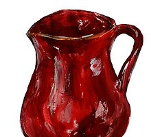 Red Milk Jug Acrylics On Paper Contemporary Painting by JamesPeart