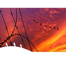 Arizona Sunset. Papers, please! Photographic Print