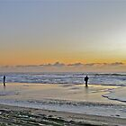 Fishing The Surf At Sunrise - Island Beach State Park - New Jersey - USA by MotherNature2