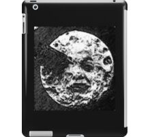 From the Earth to the moon moon with rocket in the eye pencil sketch iPad Case/Skin