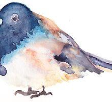 Watercolor bird by cimourdain