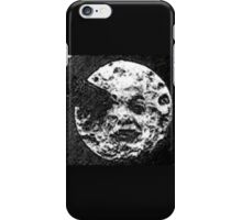 From the Earth to the moon moon with rocket in the eye pen and ink sketchh iPhone Case/Skin