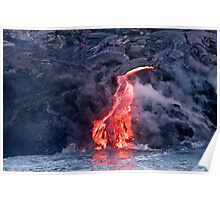 Lava Flow at Kalapana 2 Poster