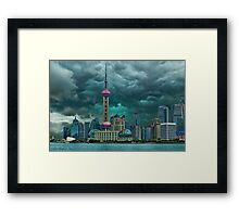 ☝ ☞Oriental Pearl Tower &BUILDINGS-PICTURE-PILLOW-TOTE BAG 东方明珠广播电视塔) IS A TV TOWER IN SANGHAI CHINA☝ ☞ Framed Print