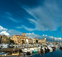 La Ciotat view across the harbour by DavidMay