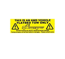 Flatbed Tow Only!! Subaru AWD Photographic Print