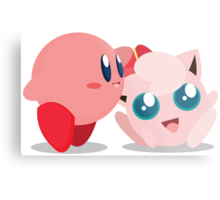 "Kirby and Jigglypuff ""Best Buds"" Vector Metal Print"