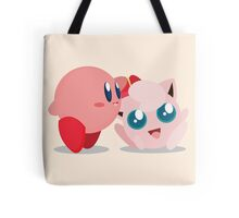 """Kirby and Jigglypuff """"Best Buds"""" Vector Tote Bag"""