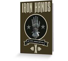 Iron Hands X - Warhammer Greeting Card