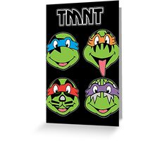 TMNT and KISS crossover Greeting Card