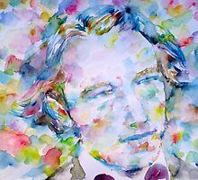 ANDRE GIDE - watercolor portrait.1 by lautir