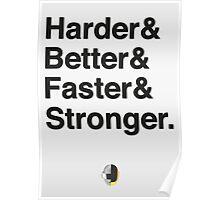 Harder & Better & Faster & Stronger. Poster