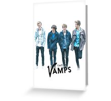 The Vamps - Blue Greeting Card