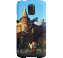 Perseverance Hotel and Cyclist (Fitzroy, Melbourne) Samsung Galaxy Case/Skin