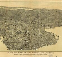 Vintage Pictorial Map of Brooklyn NY (1897) by BravuraMedia