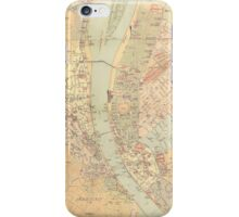 Vintage Map of Budapest Hungary (1884) iPhone Case/Skin