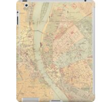 Vintage Map of Budapest Hungary (1884) iPad Case/Skin