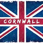 Cornwall Vintage Union Jack British Flag by Mark Tisdale