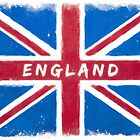 England Vintage Union Jack Flag by Mark Tisdale
