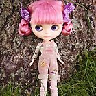 Summer Blythe in the garden - portrait version by Zoe Power