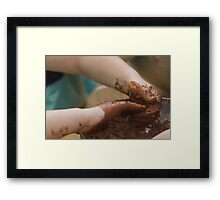 knead playing Framed Print