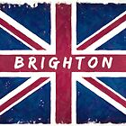 Brighton Vintage Union Jack British Flag by Mark Tisdale