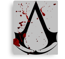 Assassins creed logo with gore! Canvas Print