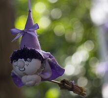 witch on broom by spetenfia