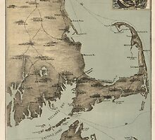 Vintage Map of Cape Cod (1885) by BravuraMedia