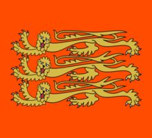 Royal Banner of England; Three Lions, English, British UK, RED by TOM HILL - Designer