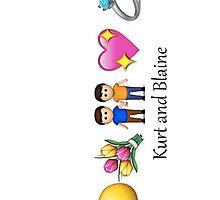 Klaine in Emoticons by bethlehurst