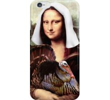Mona Lisa Thanksgiving Pilgrim iPhone Case/Skin