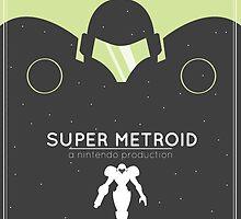 Super Metroid: Retro Poster by Adam Leonhardt