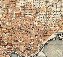 Vintage Map of Catania Italy (1905) by BravuraMedia