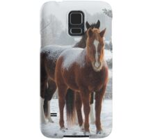 Horses in the Snow Samsung Galaxy Case/Skin