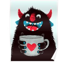 Demon with cup Poster