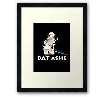Dat Ashe Framed Print