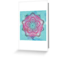 Pink and blue mandala Greeting Card