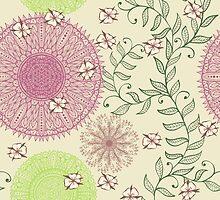 Pastel floral pattern by Patternalized