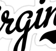 Virginia Script Black Sticker